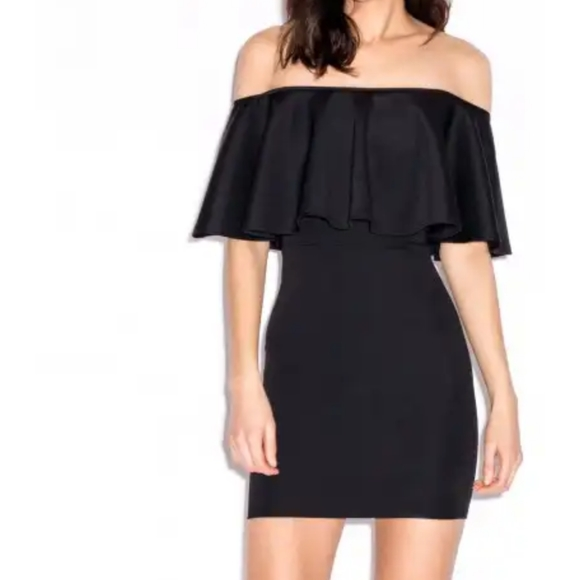 Oh My Love Cold Shoulder Bodycon Dress